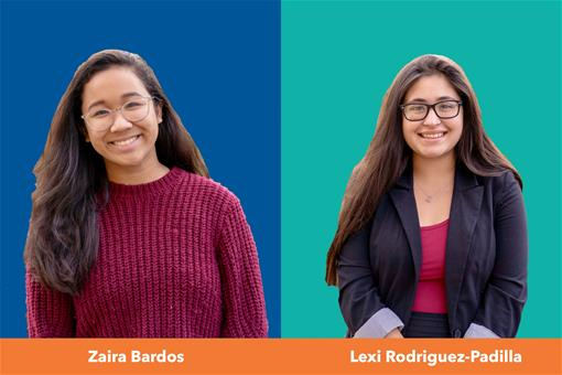 US Senate Youth Scholarship Winners Zaira Bardos and Lexi Rodriguez-Padilla