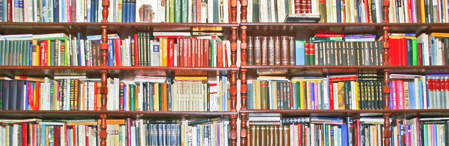 photo of a wall of books