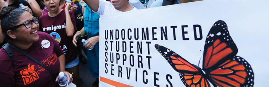 photo of demonstration for supporting undocumented students