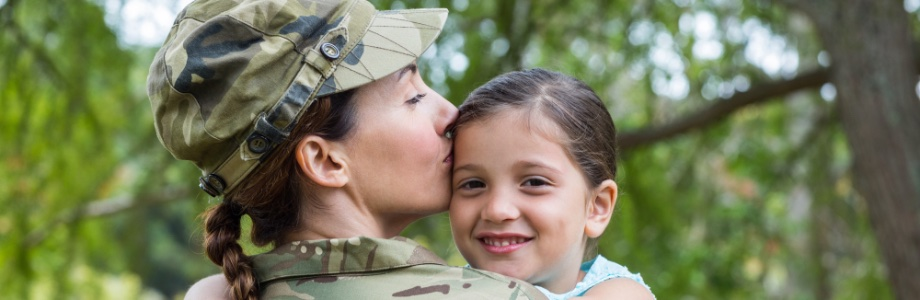 photo of military mom and daugther